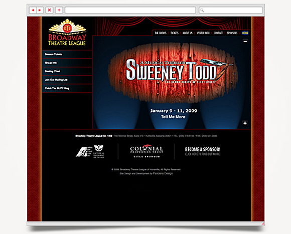 Web - Web Design - Broadway Theatre League - Website 1