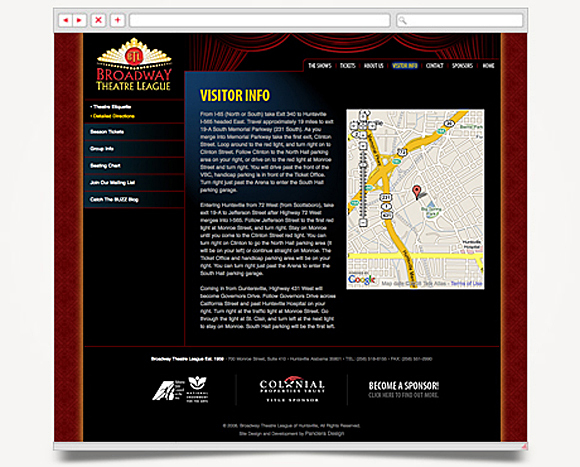 Web - Web Design - Broadway Theatre League - Website 3