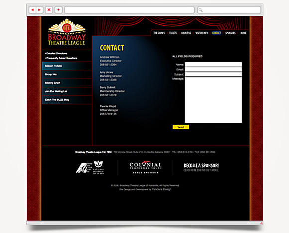 Web - Web Design - Broadway Theatre League - Website 4