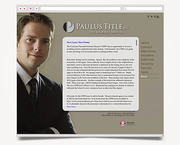 Web - Web Design - Paulus Title - Website 1
