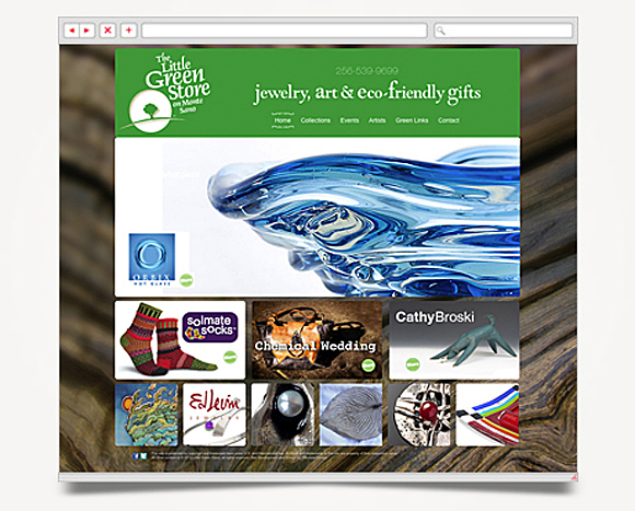 Web - Web Design - The Little Green Store - Website 1