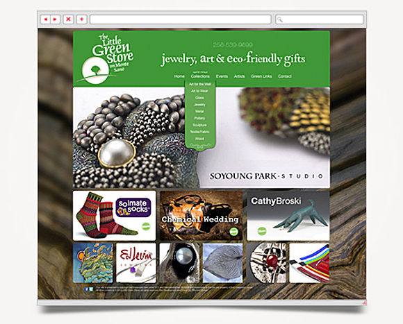 Web - Web Design - The Little Green Store - Website 3