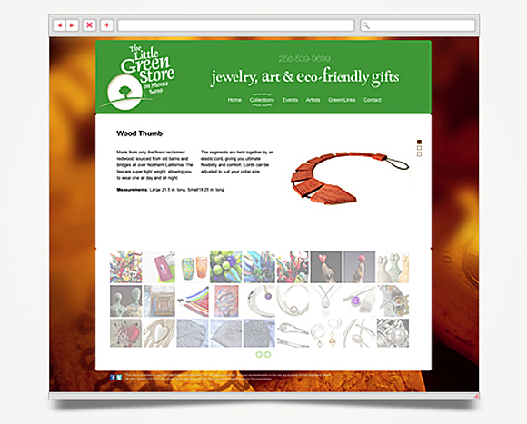 Web - Web Design - The Little Green Store - Website 4