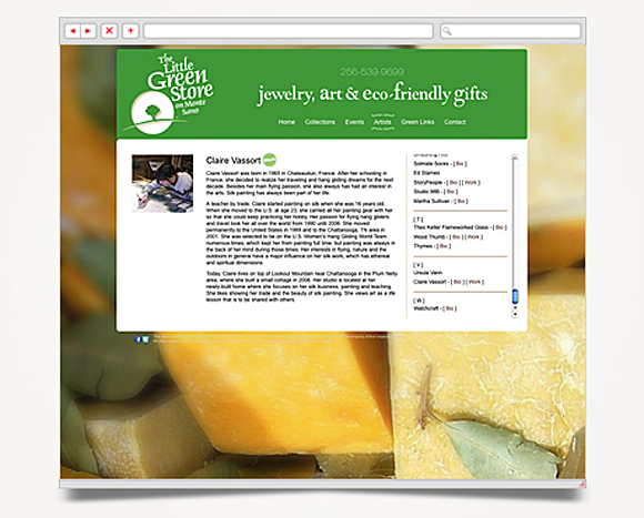 Web - Web Design - The Little Green Store - Website 5