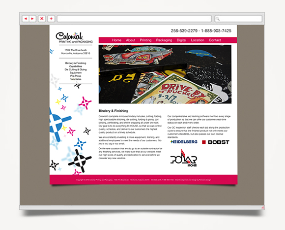 Web - Web Design - Colonial Printing & Packaging - Web Site 4