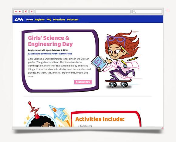 Web - Web Design - The University Of Alabama In Huntsville - Girl's Science Engineering Day