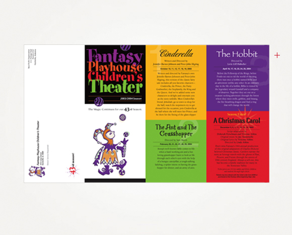 Print - Fantasy Playhouse - 2003/2004 Season Brochure