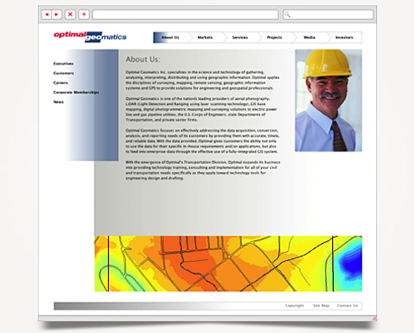 Web - Web Design - Optimal Geomatics - Website 2