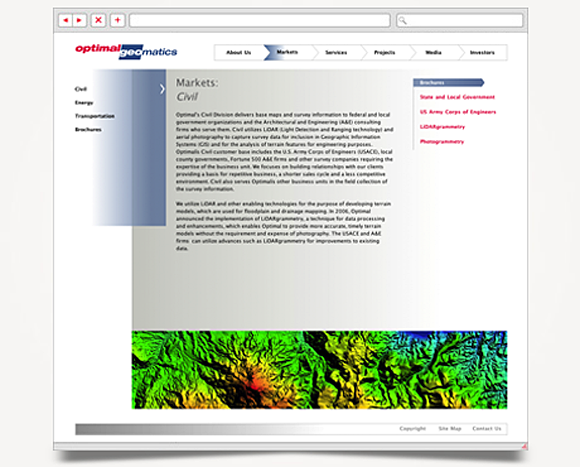 Web - Web Design - Optimal Geomatics - Website 3